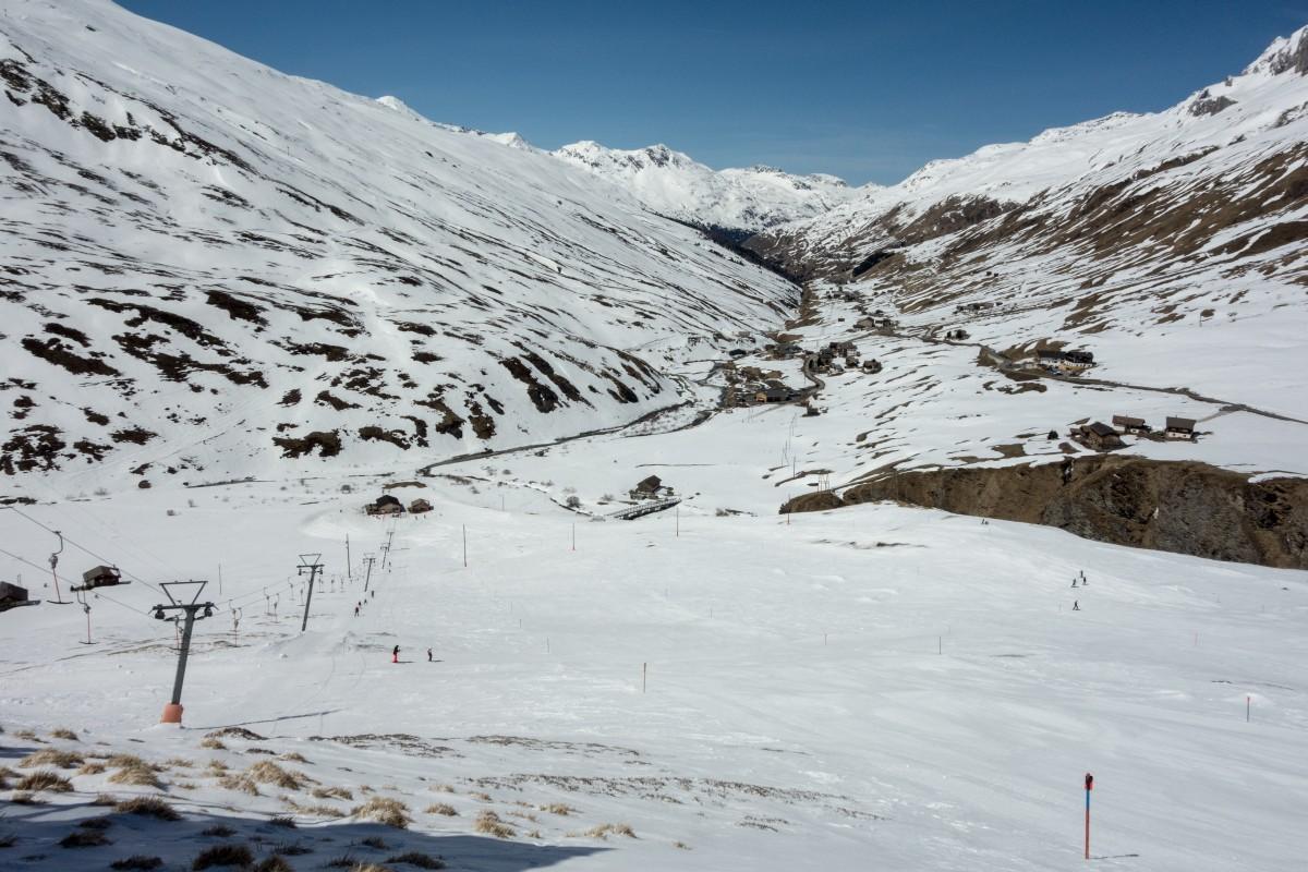 Skilift Cavetta im Skigebiet Avers