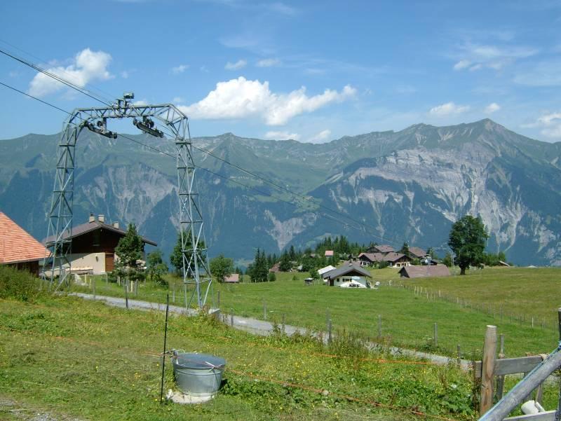 Skigebiet Axalp im Sommer