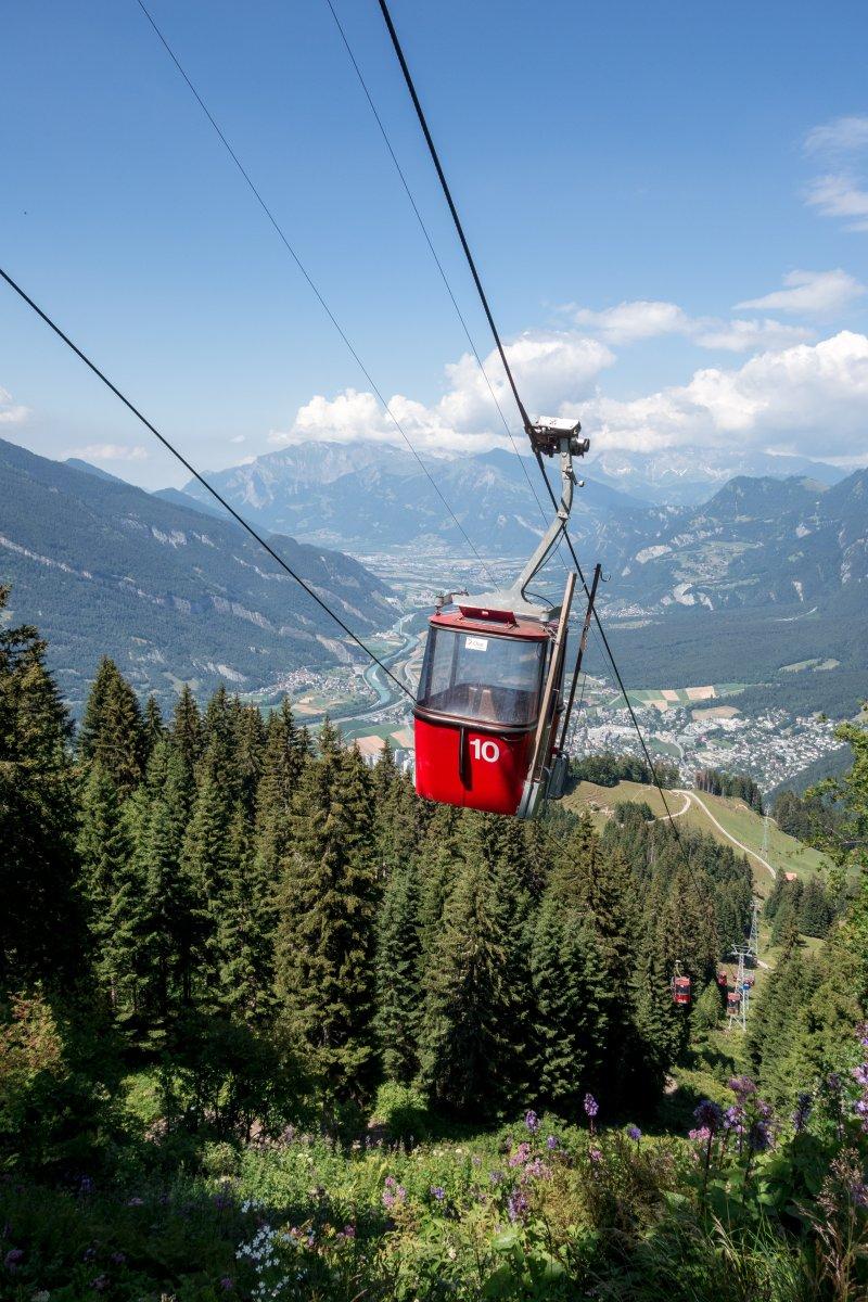 Skigebiet Chur-Brambrüesch im Sommer