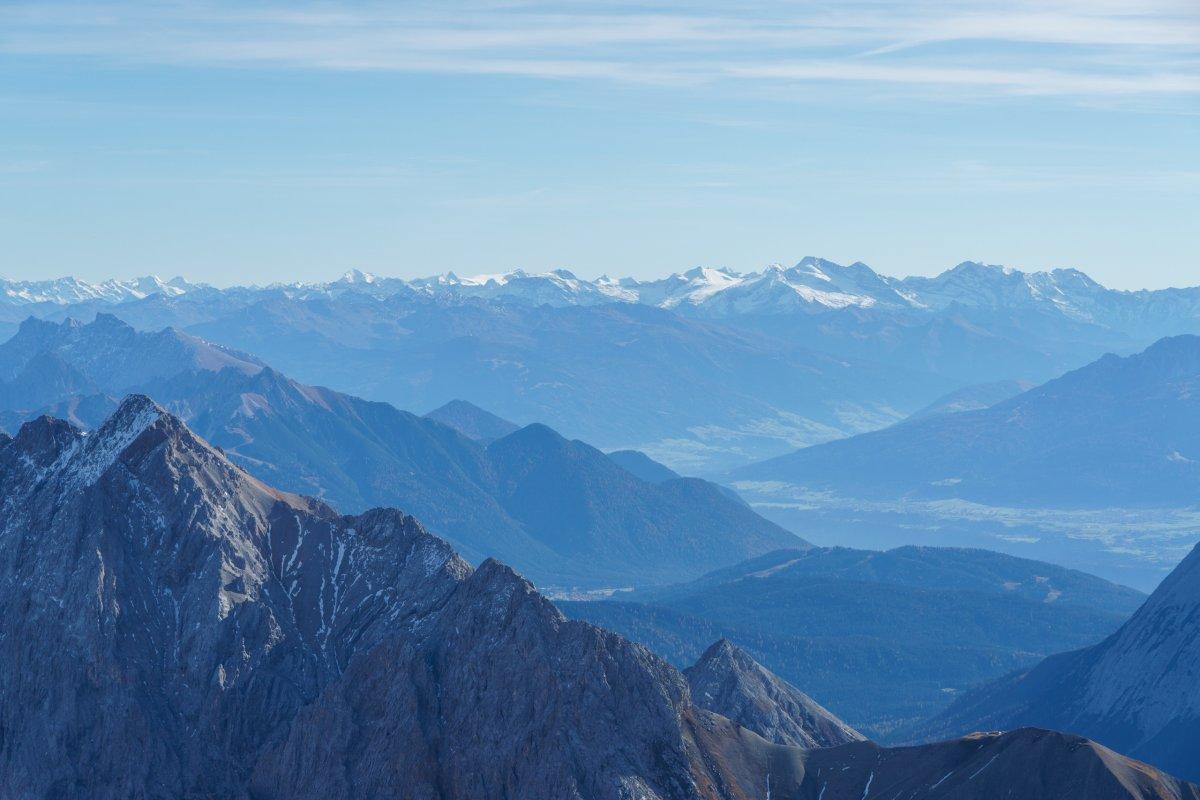 Zugspitze Panorama www.bergbahnen.org •...