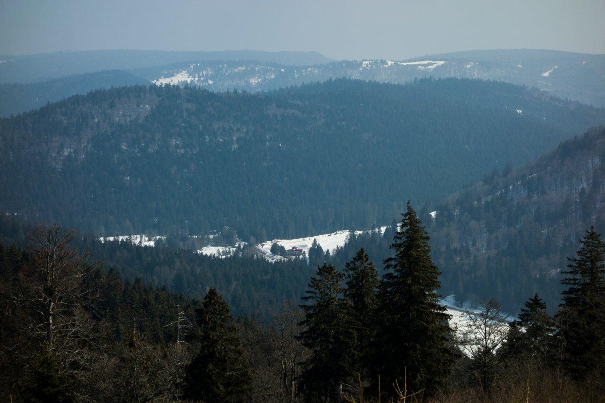 Skigebiet am Lac de Lispach