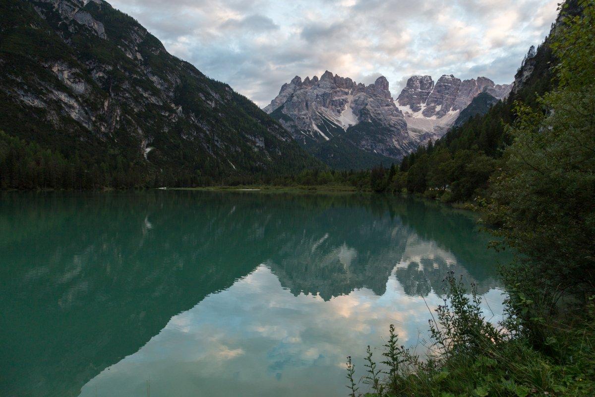 Dürrensee in den Dolomiten
