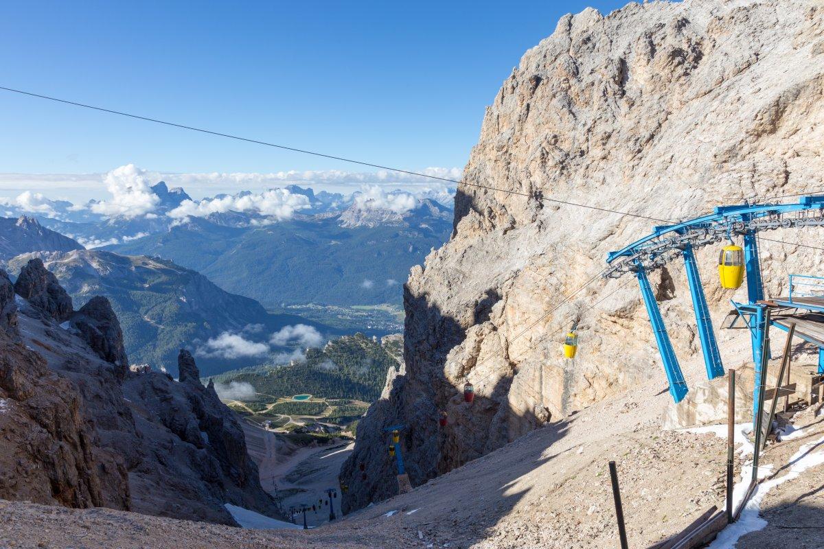 Panorama von der Forcella Staunies auf Cortina d'Ampezzo