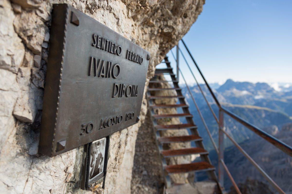 Dibona-Steig auf der Forcella Staunies