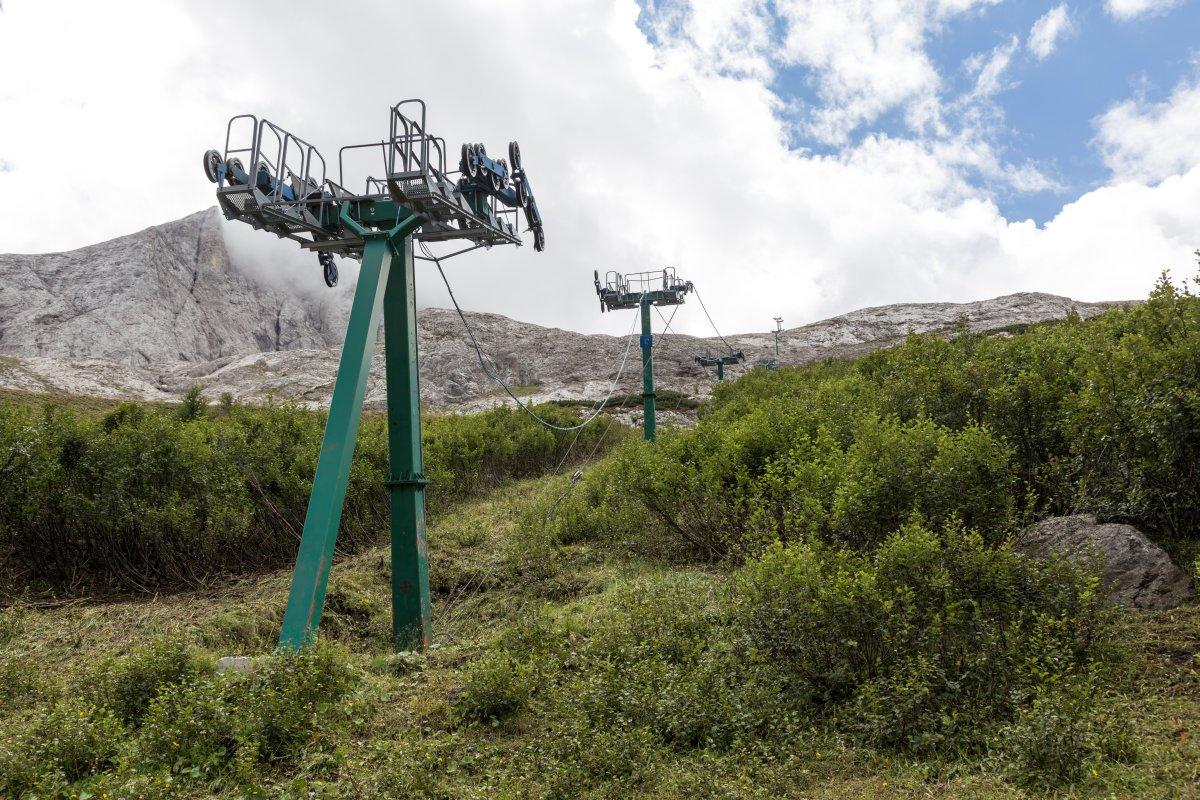 Sesselbahn Fedaia - Sass del Mul