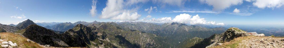 Panorama vom Monte di Camino