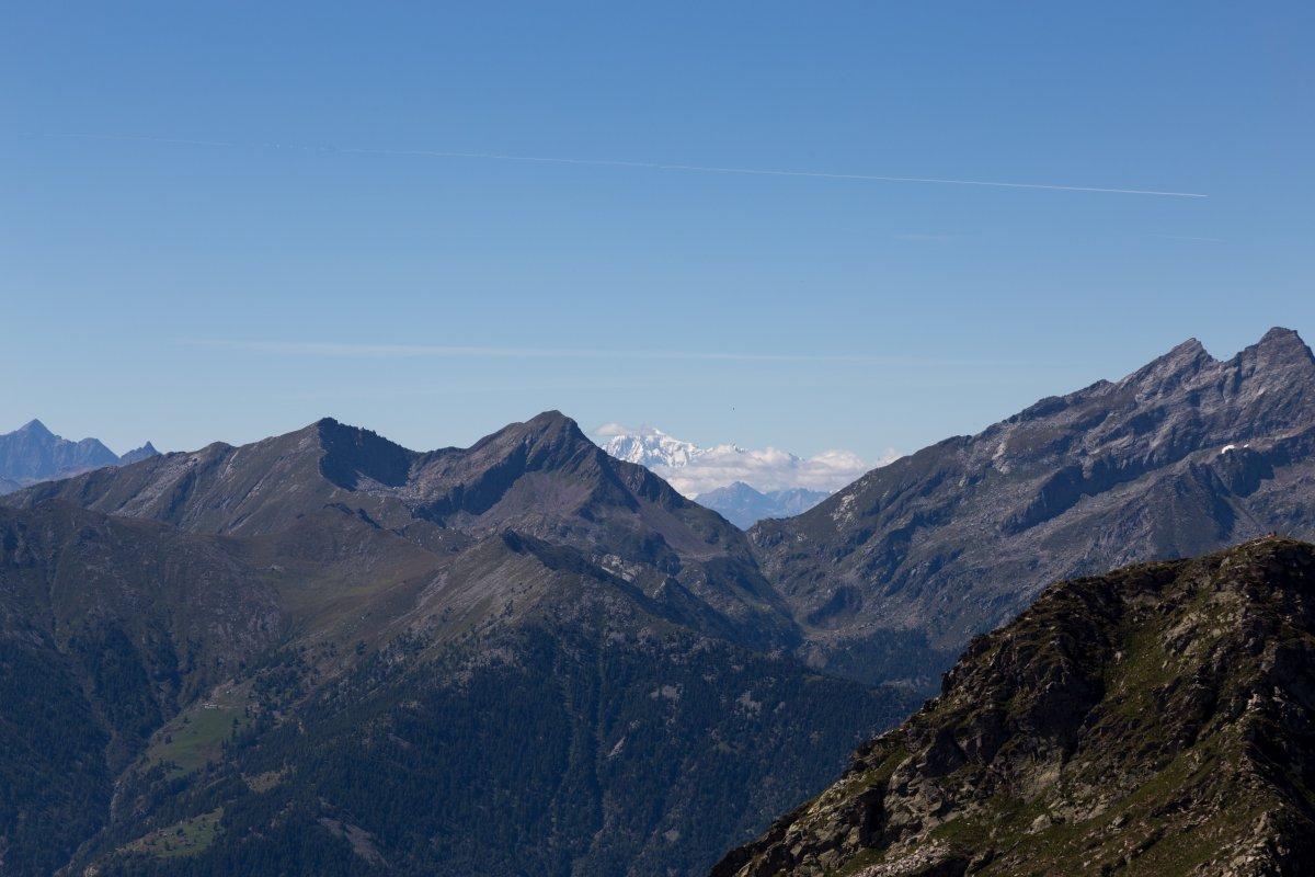 Mont Blanc vom Monte di Camino
