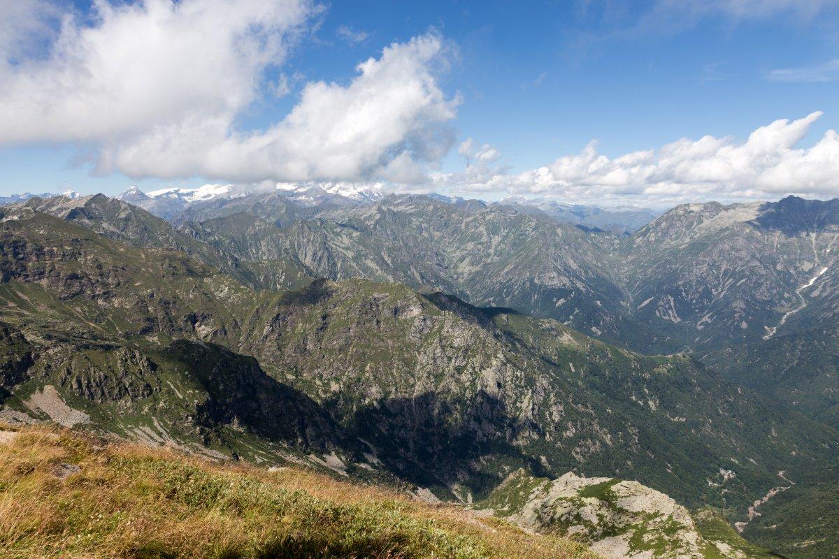 Panorama vom Monte di Mucrone nach Norden