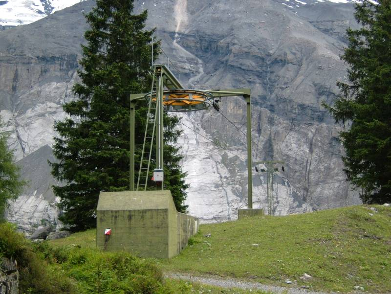 Bergstation des Schlepplifts Oeschinensee, Juli 2005