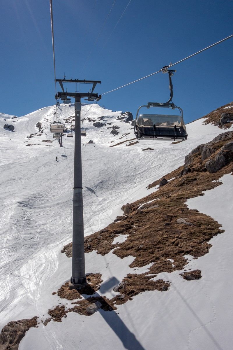 Sesselbahn Oldenegg-Cabane des Diablerets, April 2017