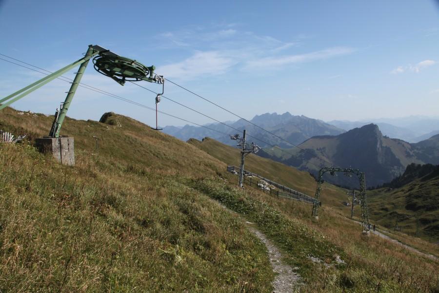 Schlepplifte am Rochers-de-Naye im Sommer