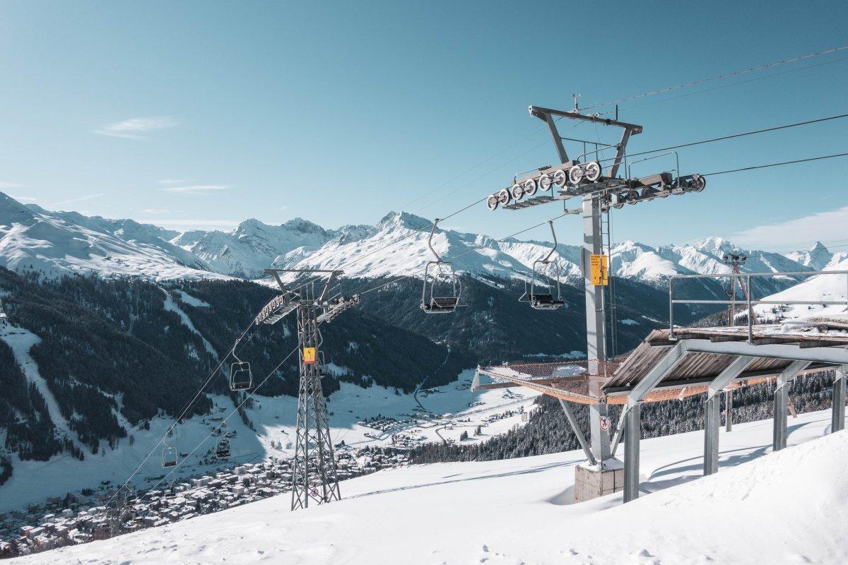 Sesselbahn auf der Schatzalp in Davos