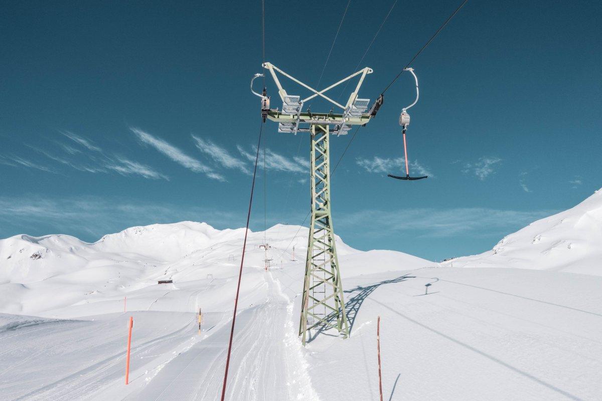 Schlepplift am Strelapass im Skigebiet Schatzalp