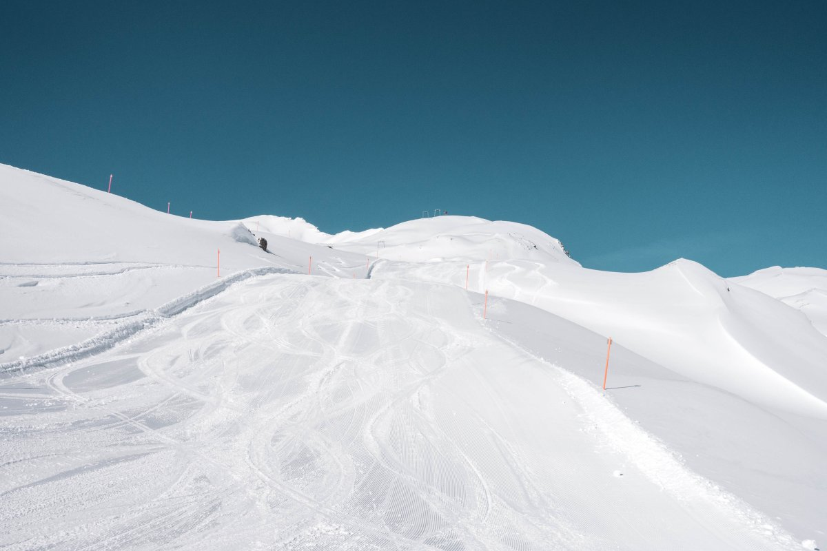 Skifahren auf der Schatzalp in Davos