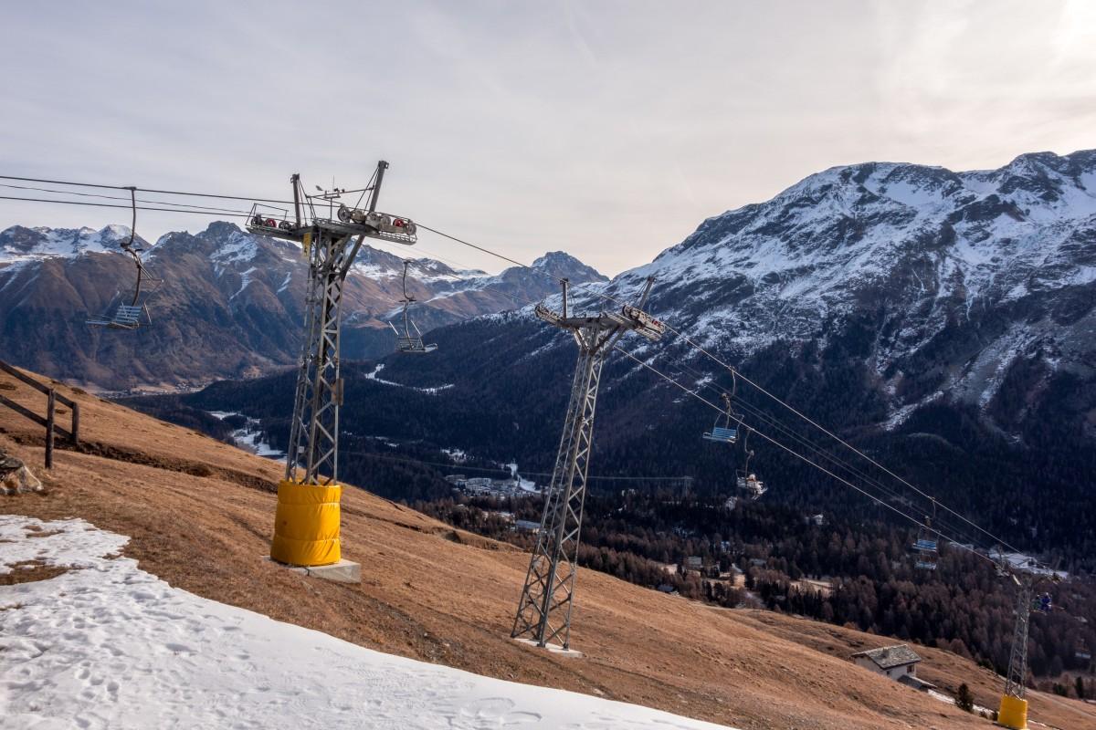Sesselbahn Suvretta - Randolins in St. Moritz