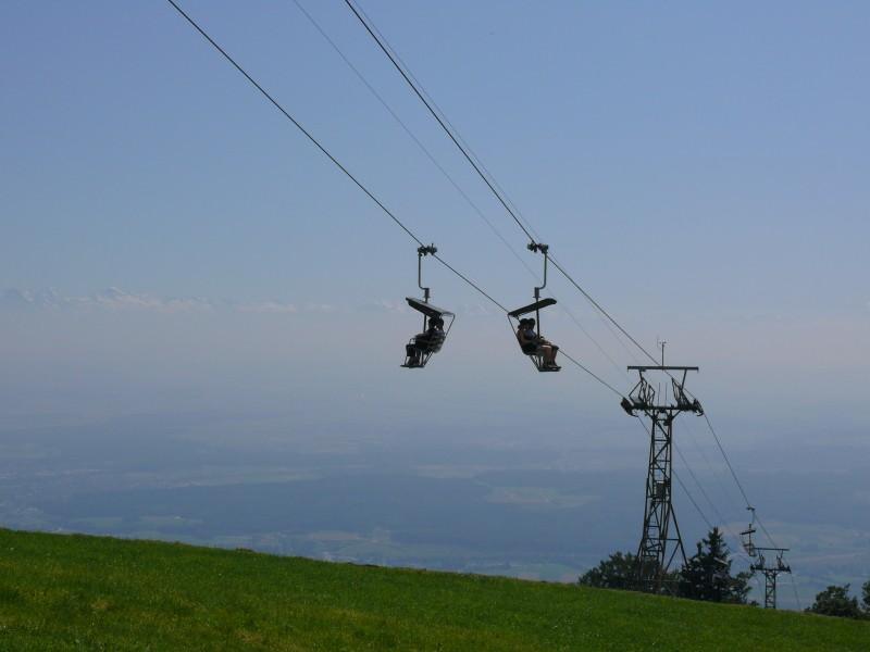Sesselbahn Weissenstein mit Alpen