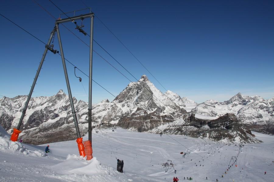Sommerskigebiet Plateau Rosa in Zermatt
